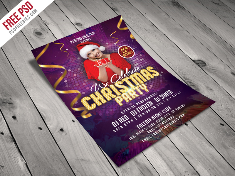 Christmas Night Party Flyer Template Free Psd Download Download Psd