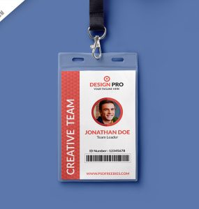 Office Identity Card Template PSD