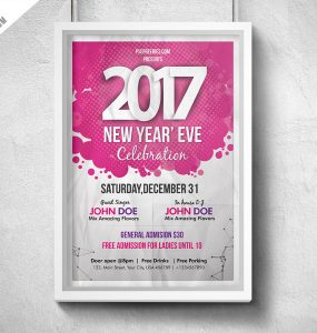 New Year Eve Party Flyer PSD
