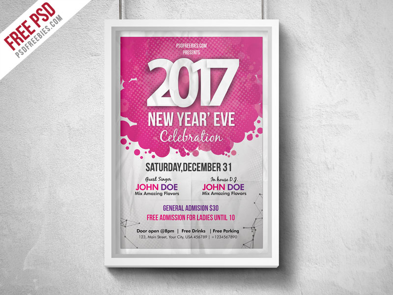 New year eve party flyer psd download download psd new year eve party flyer psd xmas party xmas winter white christmas stopboris Choice Image