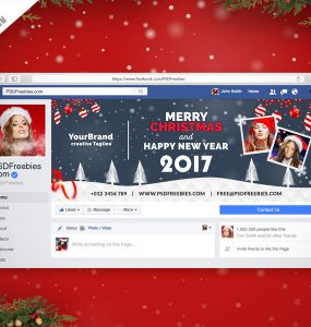 Christmas Facebook Cover Free PSD