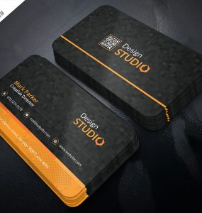 Creative Studio Business Card PSD Template