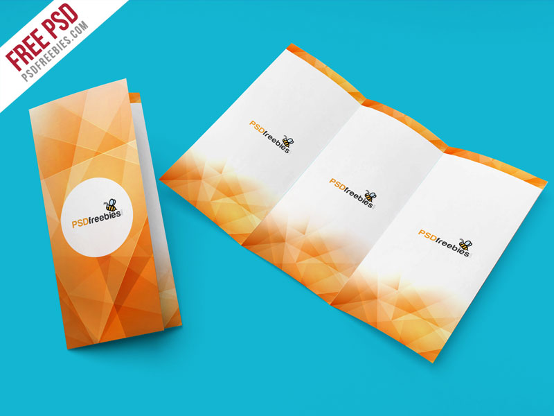 TriFold Brochure Mockup PSD Template Download Download PSD - Free tri fold brochure templates download