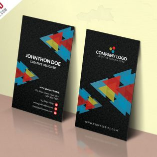 Corporate Company Business Card PSD Template