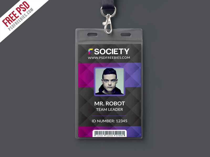 media press pass template - corporate office id card psd template download download psd