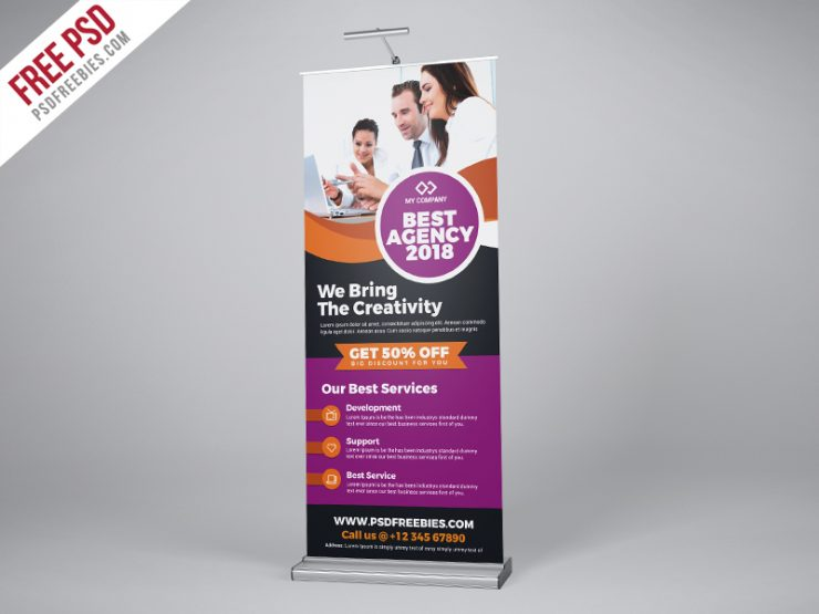 Professional Agency Roll-Up Banner PSD Template