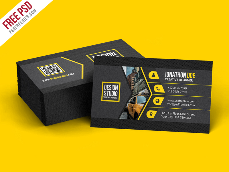 Creative Black Business Card Template PSD Download Download PSD - Business card templates for photoshop