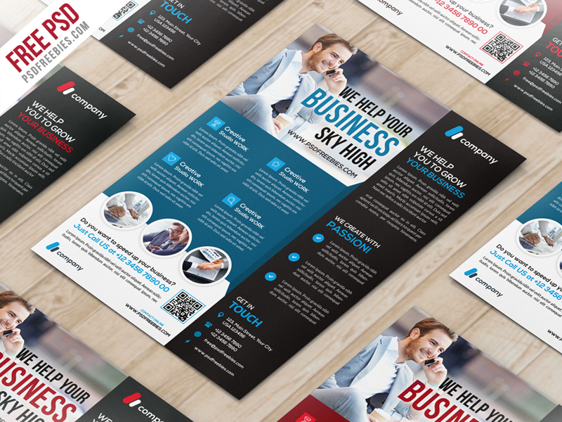 Multipurpose Corporate Flyer PSD Template