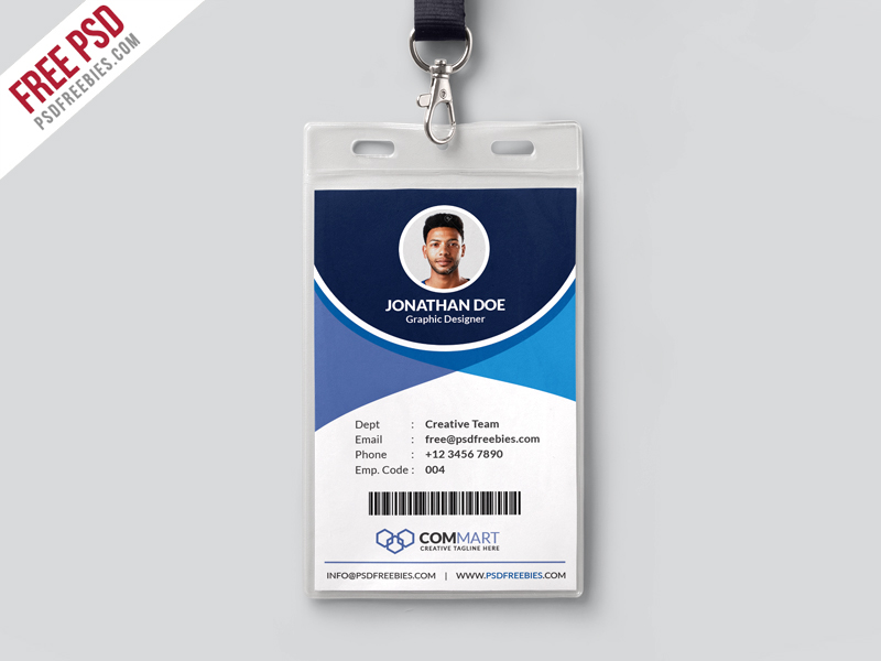 Corporate Office Identity Card Template PSD