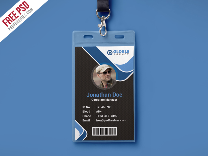 Id Card Template. Employee Id Card Template Psd 20+ Id Card ...