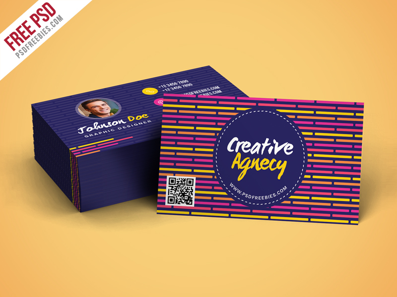 Creative Agency Business Card Template PSD