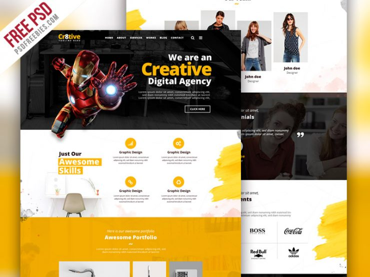 Creative Agency Portfolio Website PSD Template www, Work, Website Template, Website Layout, Website, webpage, webdesign, Web Template, Web Resources, web page, Web Layout, Web Interface, Web Elements, Web Design, Web, UX, User Interface, unique psd, unique, UI, trendy, Template, team, Stylish, Style, studio, startup, small business, Single Page, Simple, Services, Resources, reach us, Quality, Psd Templates, PSD template, PSD Sources, PSD Set, psd resources, psd kit, PSD images, psd free download, psd free, PSD file, psd download, PSD, project, Professional, Premium, portfolio gallery, Portfolio, Photoshop, Photography, Photo, Personal Portfolio, Personal, pack, original, Onepage psd Agency PSD, onepage, one page template, one page, onapage template, official, Office, new, Multipurpose PSD template, Multipurpose, multi-purpose, Modern Template, Modern Multipurpose, modern design, Modern, Minimalist, Minimal, Magazine, Layered PSDs, landing, Gallery, freelancer, freelance, Freebies, Freebie, Free PSD, Flat, designers, designer, Design Studio, design agency, Design, creative studios, creative studio, Creative Agency psd, creative agency, Creative, Corporate Business, Corporate, company, Clean Template, clean design, Clean, Business, Art, agency, Advertising, advertisement, 1170px,