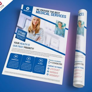 Medical Services Flyer Template Free PSD