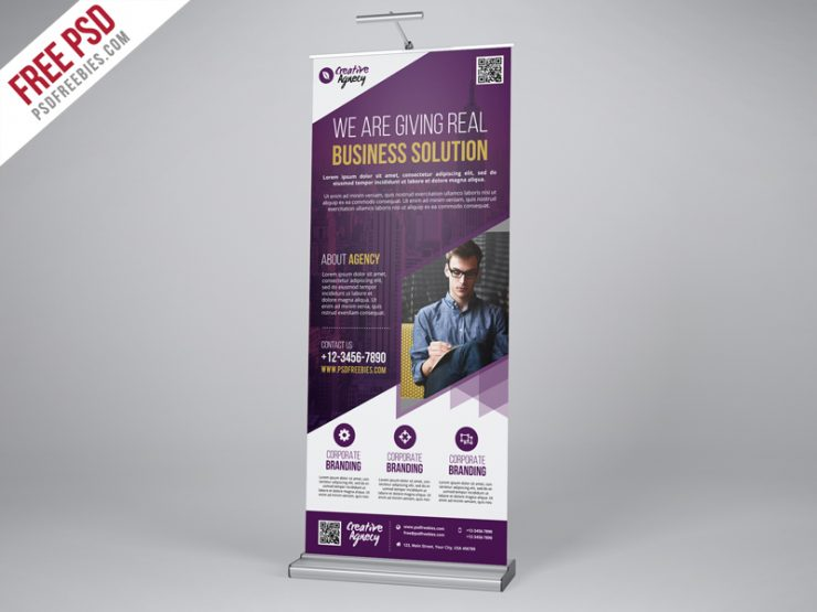 Creative Agency Roll-Up Banner PSD Template