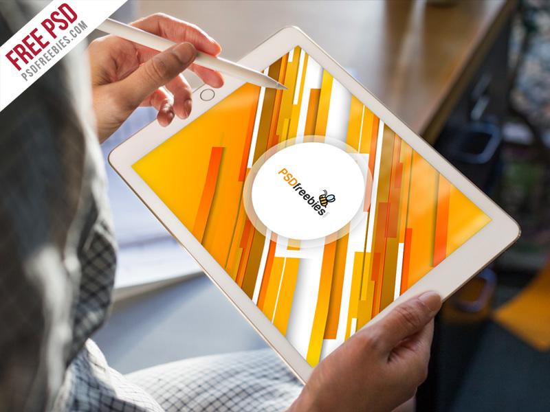 iPad Pro Mockup Template Free PSD