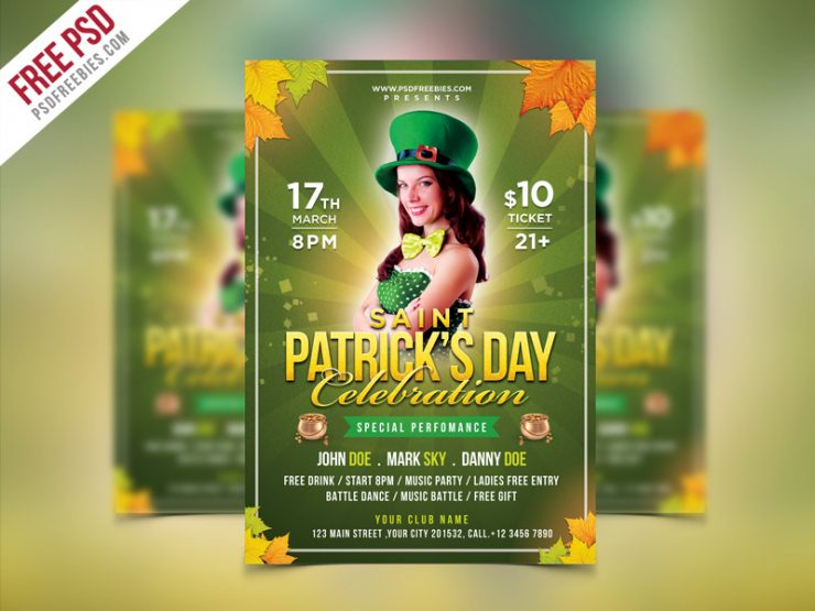 Saint Patrick's Party Flyer PSD Template Template, st. patty's day, st. Patricks flyer, St. Patricks Day Flyer, st. patricks, St. patrick's party, St. Patrick's Day Party, st. patrick, St. Paddy's party, st patricks day banner, st patrick's day, st patrick day invitation, st patrick day celebration, st patrick day, san patricio, saint patricks flyer, Saint Patricks Day, Saint Patrick's, saint patrick, saint party, saint paddys, saint, pub, PSD, Print template, Print, pot of gold coins, pot of gold, poster template, Poster, postcard, patricks party, patricks flyer, patricks day poster, patricks day banner, patricks day ads, patricks day, patrick's, patrick day invitation, patrick day card, patrick, party night, party flyer, Party, nightclub, night party, Music, Money, lucky charms, lucky charm, lucky, luck, Irish party, irish, ireland, invitation card, invitation, Holidays, green day, green clover, Green, gold pot, Gold, glow party, Free Saint Patrick Flyer, Free PSD, free flyer, flyer template, Flyer, festival, fest, event celebration, Event, drinks party, drinking, Drink, DJ, Design, day, Creative, coins, Coin, Club, charm, Celebration, Birthday, beer fest, Beer, Bar,