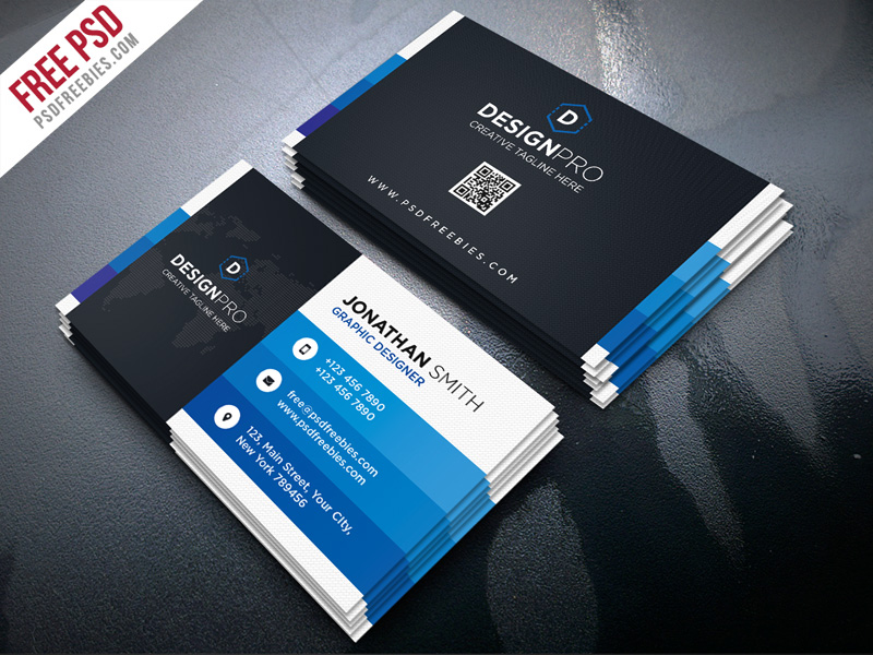 Creative and Modern Business Card PSD Bundle Download - Download PSD