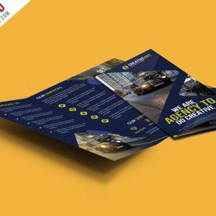 Multipurpose Trifold Business Brochure PSD Template