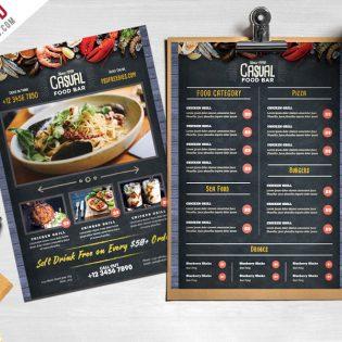 Chalkboard Style Food Menu PSD Template