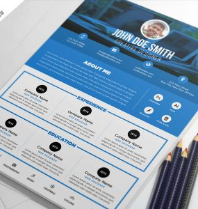 Clean and Designer Resume CV Template PSD
