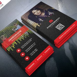 Professional Photographer Business Card PSD Bundle