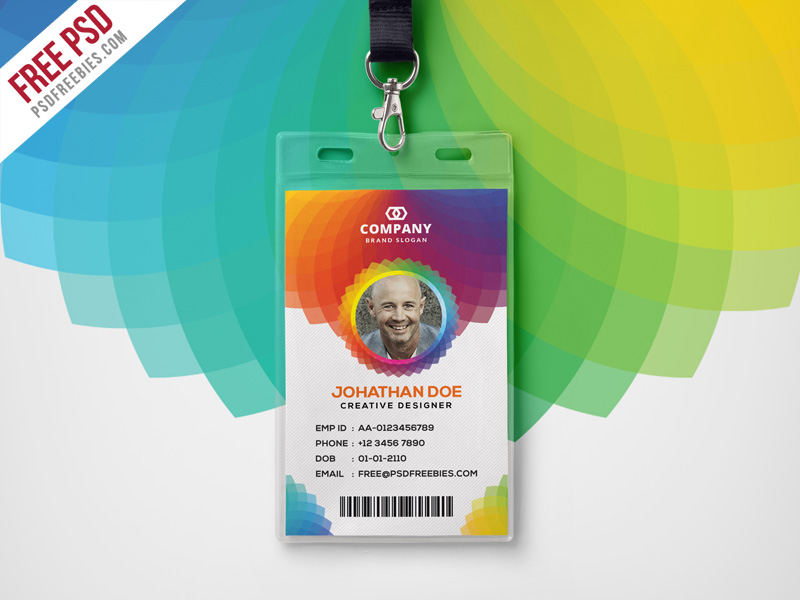 Available Format Vector Photoshop PSD ScalableDouble Click Place Your Design License Free For Personal Office Identity Card Template