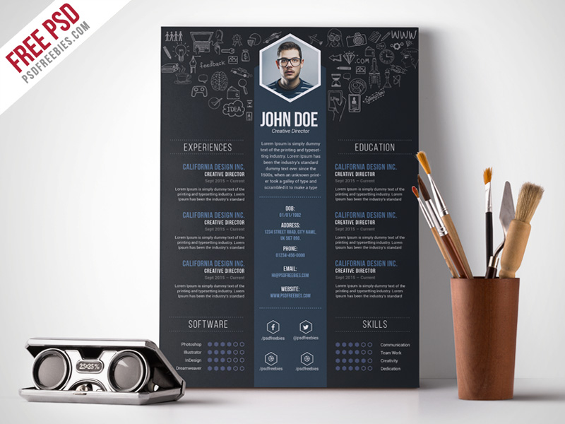 free trendy resume templates word creative designer template work web developer download