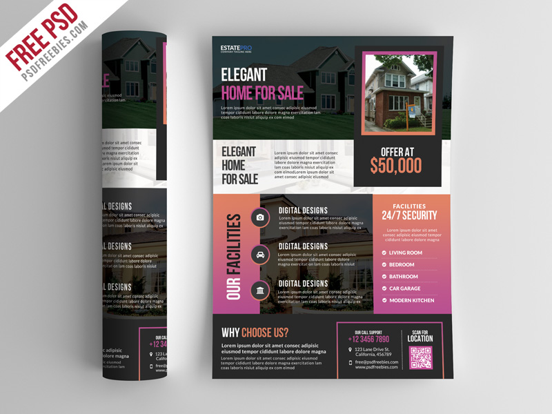 Real Estate Flyer Template Psd Download Download Psd