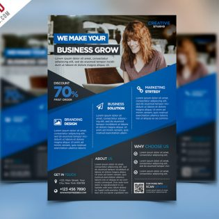Digital Agency Advertising Flyer PSD Template