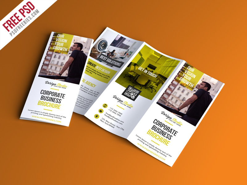 Professional Trifold Brochure Psd Template Download Psd