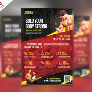 Fitness and Gym Flyer PSD Template