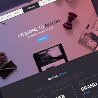Creative Studio Free PSD Template