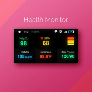 Health Monitor Widget UI Free PSD