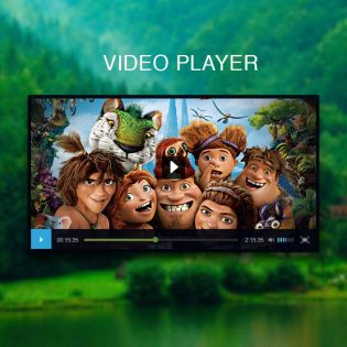 Black Video Player UI Free PSD