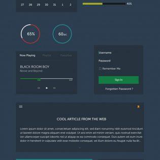 Simplicity UI Kit Free PSD