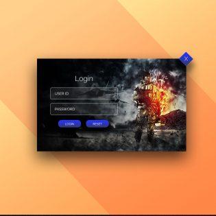 Creative Login Popup UI Free PSD