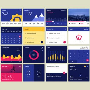 16 Awesome Widgets Free PSD