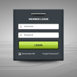 Member-Login Form Panel UI Free PSD