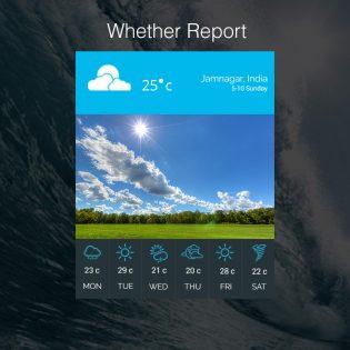 Weather UI Kit Free PSD