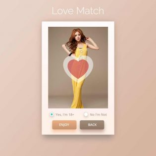 Love Match App UI Free PSD