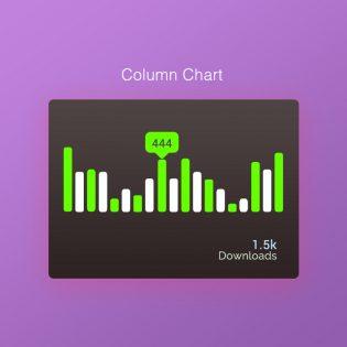 Column Chart Free PSD