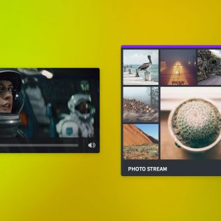 Video Image Gallary UI Free PSD