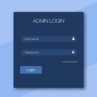 Simple Login Form UI Free PSD