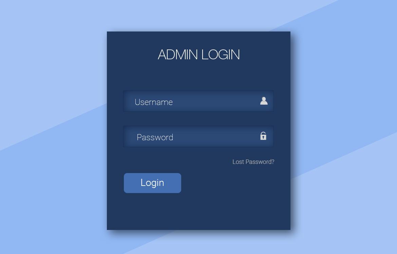 Simple Login Form UI Free PSD