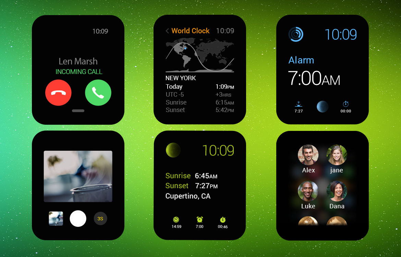 Apple Watch UI Kit Free PSD