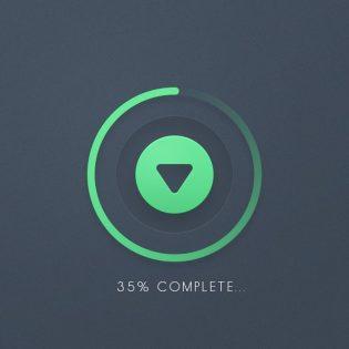 Download Progress Button UI Free PSD