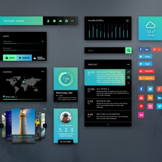 GreenLight UI Kit Free PSD