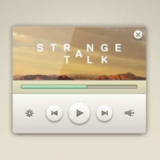 Elegant Music Player widget Free PSD