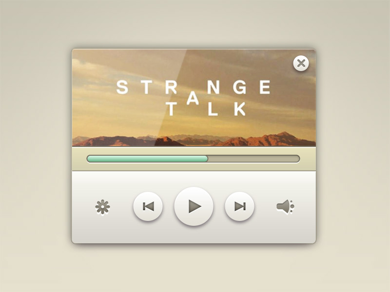 Elegant Music Player widget Free PSD