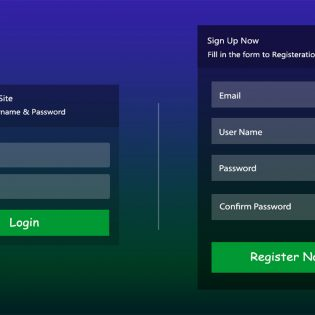 Signup Login Form UI Kit Free PSD